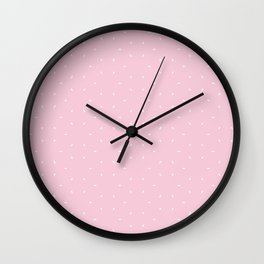 Pink And White subtle pattern Wall Clock