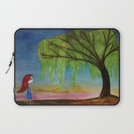 O willow, why do you weep? Laptop Sleeve
