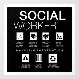 Social Worker Funny Art Print
