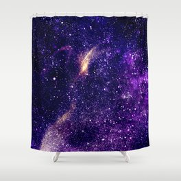 Ultra violet purple abstract galaxy Shower Curtain