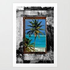 WINDOW ON PARADISE Art Print