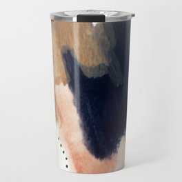 Drift Away [2] - a mixed media abstract piece in pink, brown, and purple Travel Mug