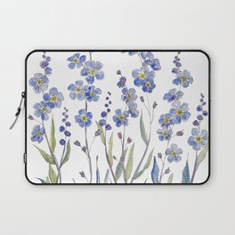 Blue Forget Me Not Blooms Laptop Sleeve