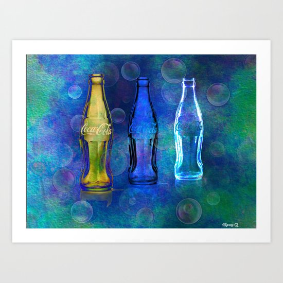 Three Cokes Art Print