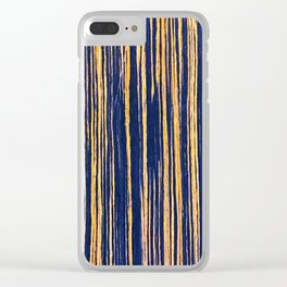 Vertical Scratches on Royal Purple Metal Texture Clear iPhone Case