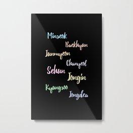 exo real name design Metal Print