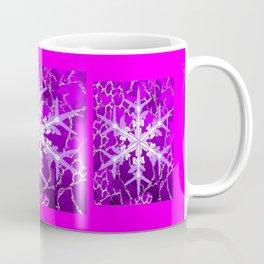 Amethyst Snowflake Abstract for February Babies Coffee Mug