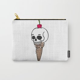 Paris Skull Ice Cream Carry-All Pouch