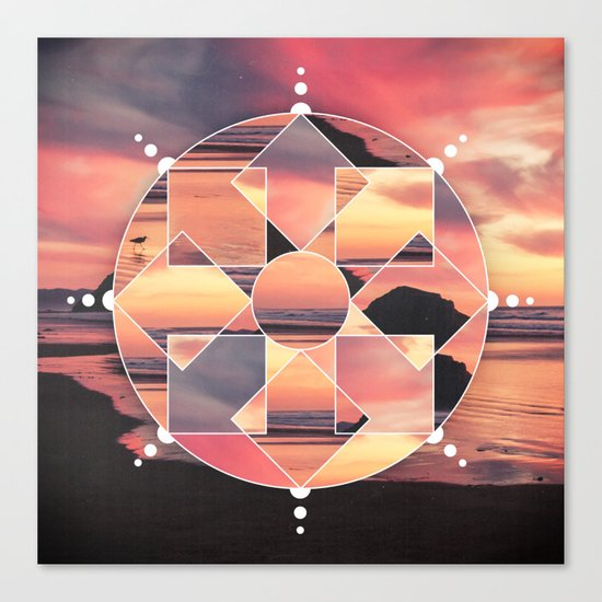 Geometric Seashore Canvas Print