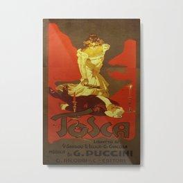 Vintage poster - Tosca Metal Print