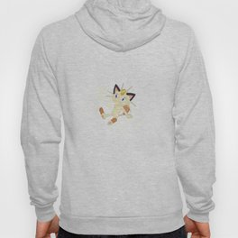 Scratch cat with golden charm white background Hoody