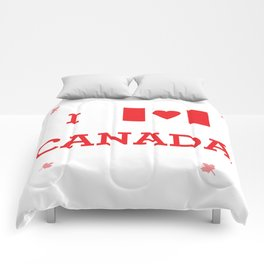 I heart Canada Comforters