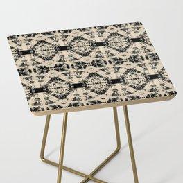 Vintage Circle Shibori Side Table