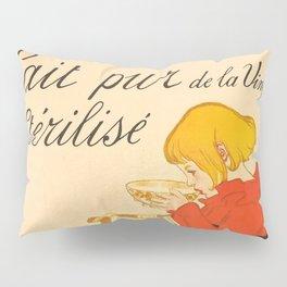 """Théophile Steinlen """"Lait Pur de la Vingeanne Stérilisé"""" Pillow Sham"""