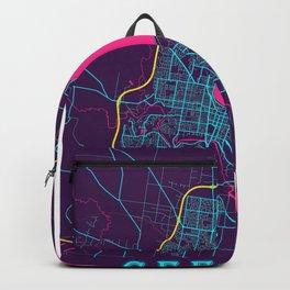 Geelong Neon City Map, Geelong Minimalist City Map Art Print Backpack