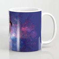 space cat Mugs featuring Space cat by S.Levis