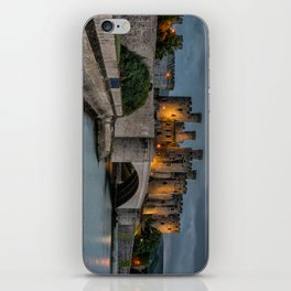 Conwy Castle by Lamplight iPhone Skin