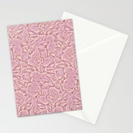carpet of flowers in vintage pink Stationery Cards