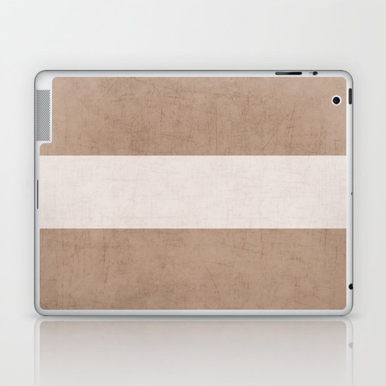 natural and white classic Laptop & iPad Skin