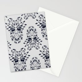 Abstract Geometric - kind of wallpaper french style  - Gray and Black Stationery Cards
