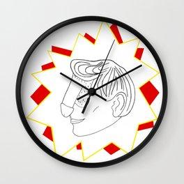 Pow! Dickface Wall Clock