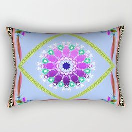 Yellow Batique Rectangular Pillow