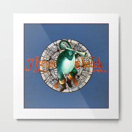 Bosch Flute-billed Blue Duck Metal Print