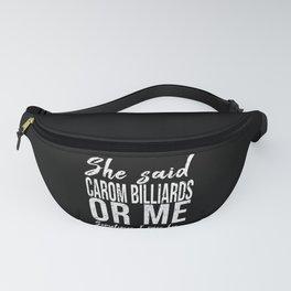 Carom Billiards funny gift idea Fanny Pack
