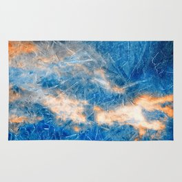 Burning Ice Clouds Rug