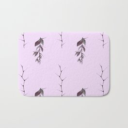 Sprigs of barberry and hawthorn Bath Mat