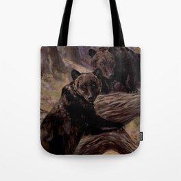 Vintage Brown Bear Painting (1909) Tote Bag