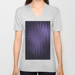 Random weird looking unclear, bright and shaky dark slate gray, dark slateblue and light slate gray Unisex V-Neck