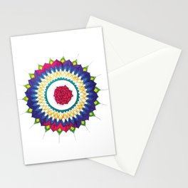Rose Mandala Stationery Cards
