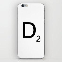 Letter D - Custom Scrabble Letter Wall Art - Scrabble D iPhone Skin