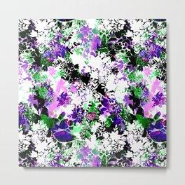 Painty Flowers Metal Print
