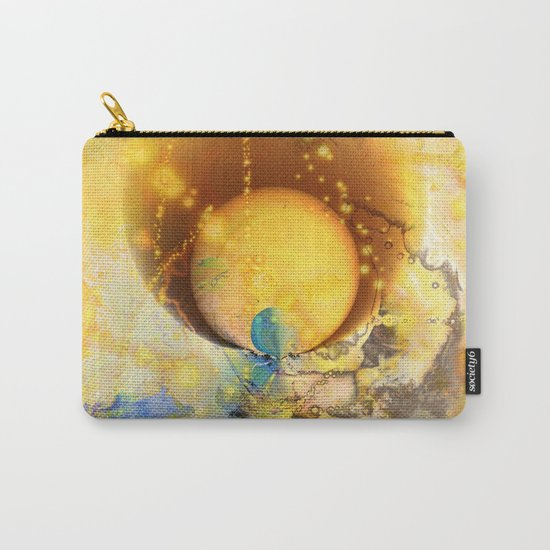 Abstract texture yellow 1 Carry-All Pouch