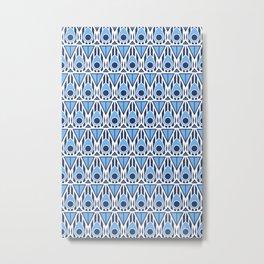 Blue Nouveau Metal Print