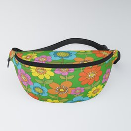 Far out flowers Fanny Pack