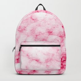Red/Pink Marble Texture Pattern Backpack