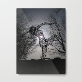AN ECLIPSE OF THE HEART FOR THE JOY OF SPRING WIRE SCULPTURE Metal Print