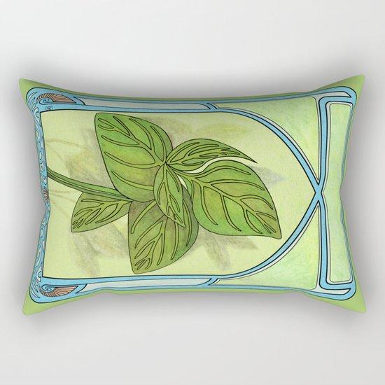 Art nouveau. Basil. Rectangular Pillow