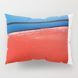 GRAND RESORT SERIES. Boats, Piran, Mediterranean Sea, Color Film Photo Pillow Sham
