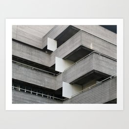 brutalist angles - national theatre london Art Print
