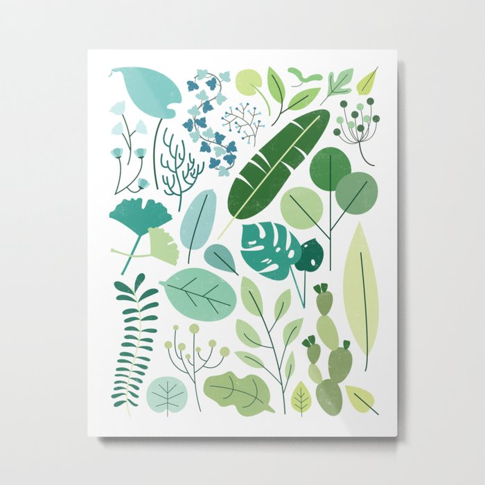 Botanical Chart Metal Print