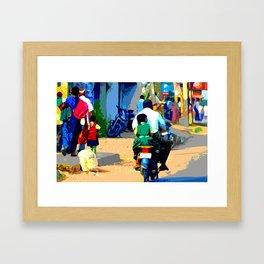 School Run - India Framed Art Print