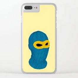 Blue Creeper Clear iPhone Case