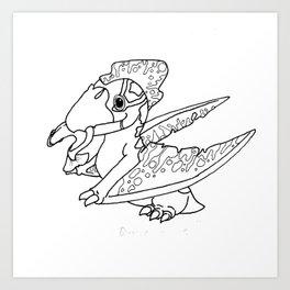 Quetzalcoatlus Sketch Art Print