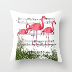Flamingo dance Throw Pillow