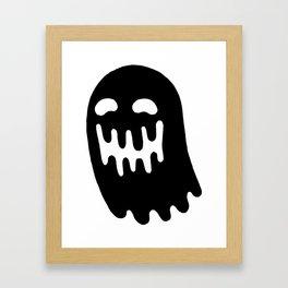Dripping Ghost Framed Art Print