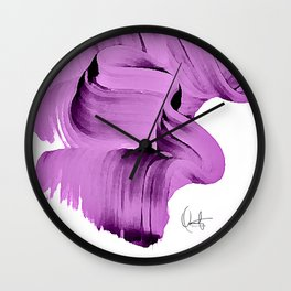 Radiant Orchid Abstract  Wall Clock